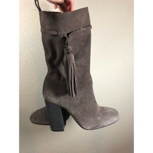 Vince Camuto fermal brown tassel boots 7.5
